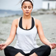 Yoga asian woman - Stock Photo