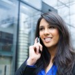 Stock Photo: Indian businesswoman on the phone