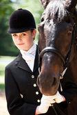 Horseback riding girl — Stock Photo