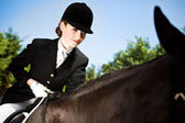 Horseback riding girl — Stock Photo