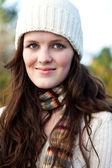 Beautiful teenager outdoor — Stock Photo
