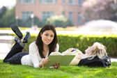 Studying college students — Stock Photo