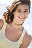 Happy beach summer girl — Stock Photo