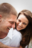Happy caucasian couple — Stock Photo