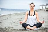 Yoga asian woman — Stock Photo