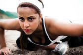 运动型的女人 — 图库照片