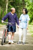 Senior active asian couple — Stock Photo