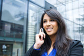 Indian businesswoman on the phone — Stock Photo
