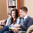 Couple watching television — Stock Photo #5653441