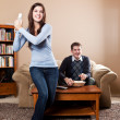 Couple playing video games — Stock Photo #5653471