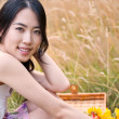 Beautiful asian woman — Stockfoto