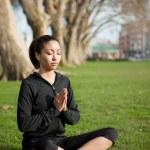 Meditating yoga woman — Stock Photo #5653575