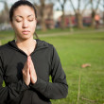 Meditating yoga woman — Stock Photo #5653576