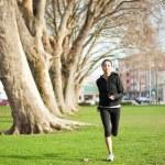 Woman exercise — Stock Photo