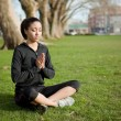 Meditating yoga woman — Stock Photo