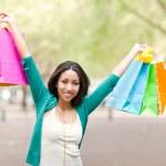 Black woman shopping — Stock Photo #5653610
