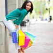 Stock Photo: Black woman shopping