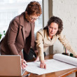 Working businesswomen — Stockfoto