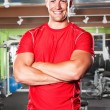 Muscular athlete — Stock Photo