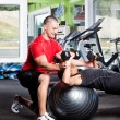 Personal training - Foto Stock