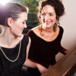 Mother and daughter playing piano — Stock Photo