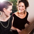 Mother and daughter playing piano — Stock Photo #5654220