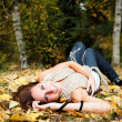 Happy beautiful autumn woman — Stock Photo