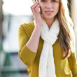 Caucasian woman on the phone — ストック写真