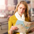 Traveling woman — Stock Photo