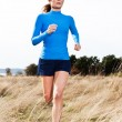 Running woman — Stock Photo