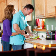 Royalty-Free Stock Photo: Couple in kitchen