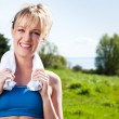 Woman exercise — Stock Photo