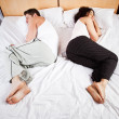 Sleeping couple — Stockfoto