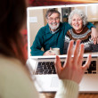 Royalty-Free Stock Photo: Senior couple video conference