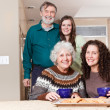 Grandparents, daughter and granddaughter — Stock Photo