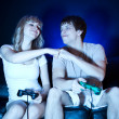 Couple playing video games — ストック写真