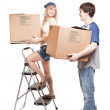 Moving couple — Stock Photo