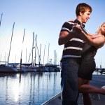Romantic couple in love — Stock Photo