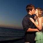 Kissing romantic couple — Stock Photo