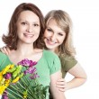 Mother and daughter celebrating mother's day — Foto Stock