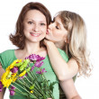 Stock Photo: Mother and daughter celebrating mother's day
