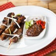 Pork satay - Stock Photo