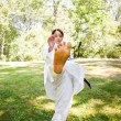 Asian practicing karate - Stock Photo