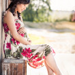 Pregnant asiwoman — Stock Photo #5655500