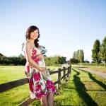 Pregnant asian woman — Stock Photo