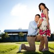 Pregnant couple - Stockfoto