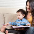 Mother and son reading — Stock Photo #5655533