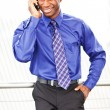 Black businessman on the phone — Stock Photo