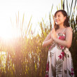 Pregnant asian woman — Stock Photo