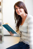 Mixed race ollege student — Stock Photo